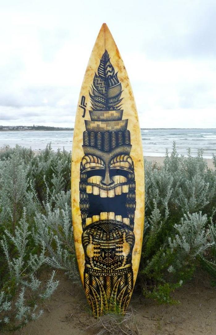 Jarryn Dower Art&Design altes surfbrett ins kunstwerk verwandeln