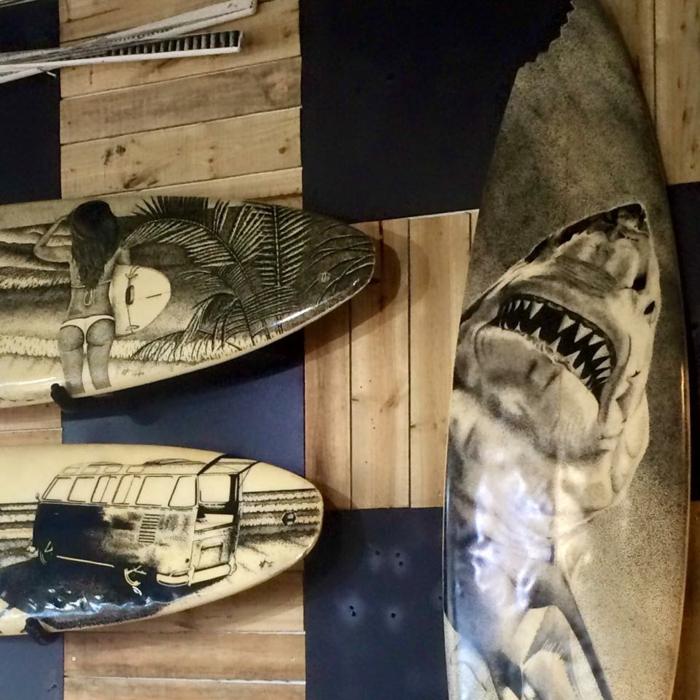 Jarryn Dower Art&Design altes surfbrett wanddeko ideen