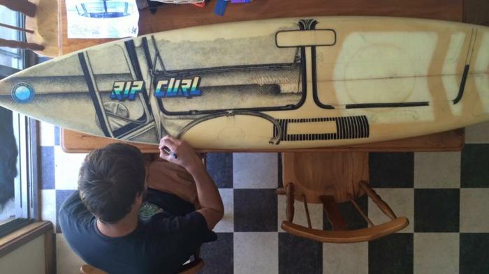 Jarryn Dower Art&Design surfbrett bemalen