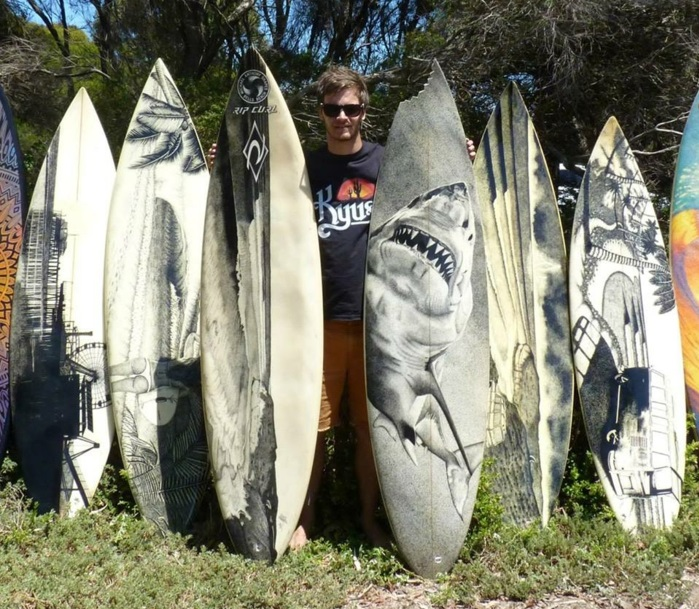 Jarryn Dower Art&Design surfbrett kunst