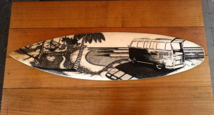 Jarryn Dower Art&Design surf brette strand zeichnung