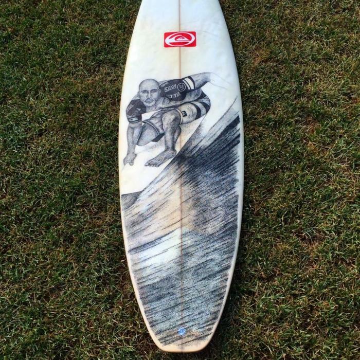 Jarryn Dower Art&Design surf brette zeichnung surfer