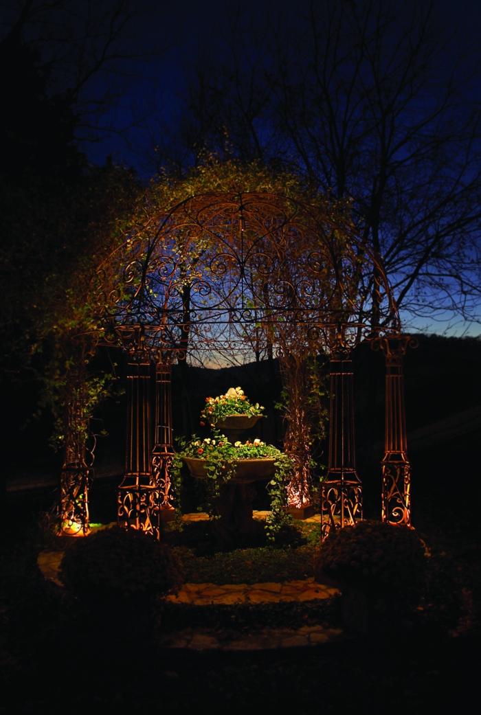 LED Beleuchtung Garten Sommer Pavillon