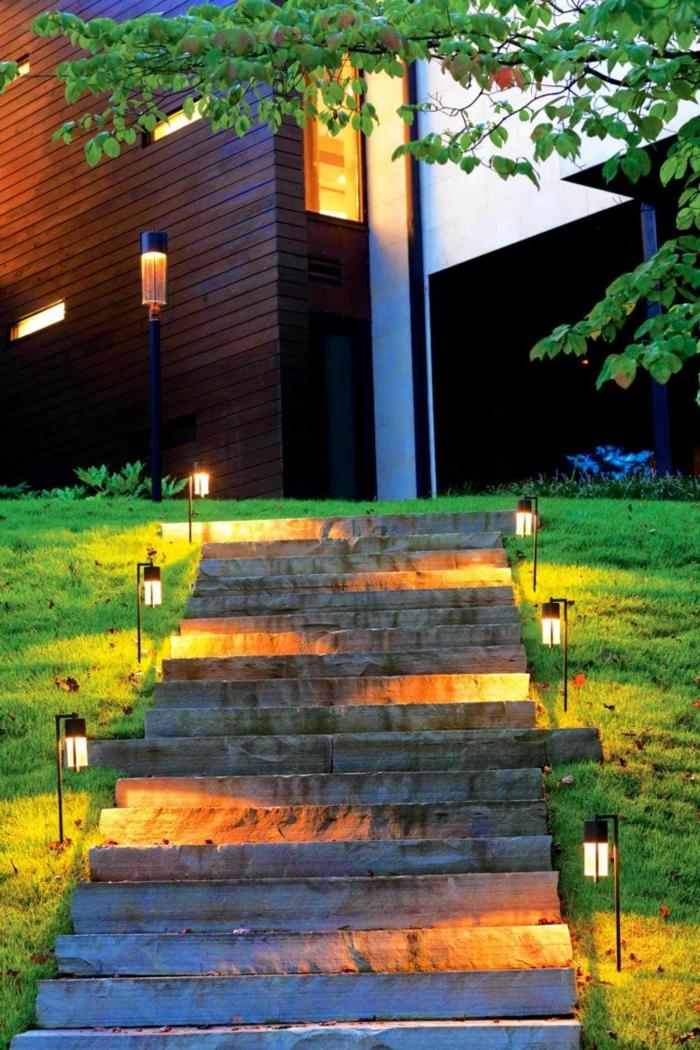 Gartenbeleuchtung LED Beleuchtung Garten Treppe