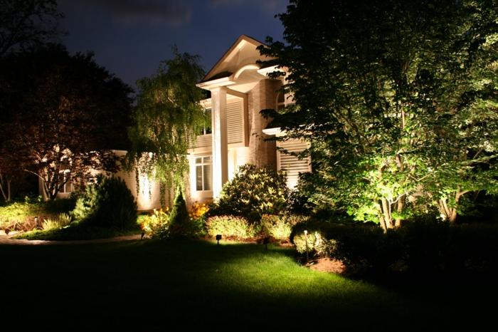 LED Beleuchtung Garten gehweg fussboden