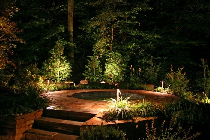 LED Beleuchtung Garten gehweg whirpool
