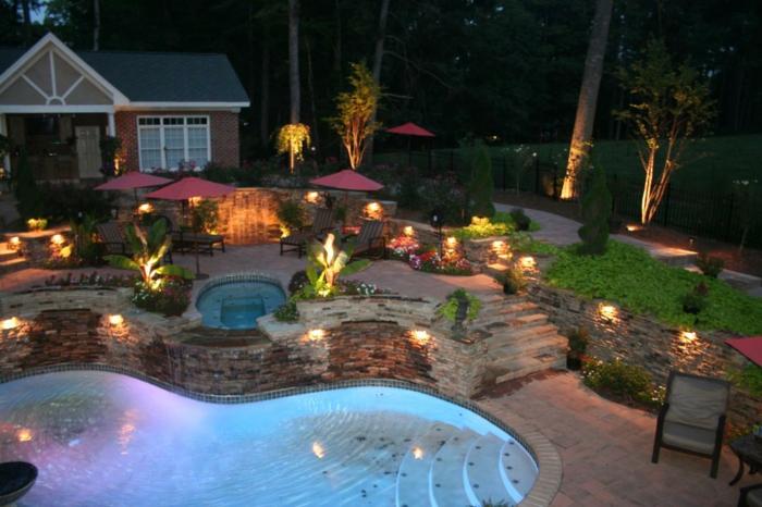 LED Beleuchtung Garten grosser