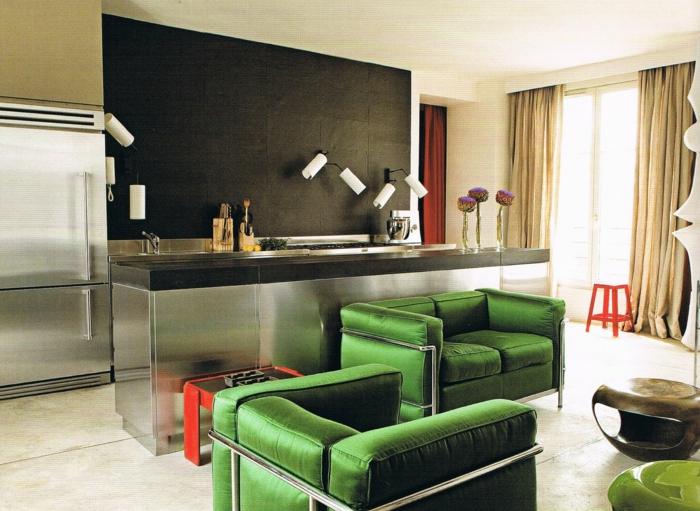 Le Corbusier Möbel Lc 2 Weiss Doppelt Grün