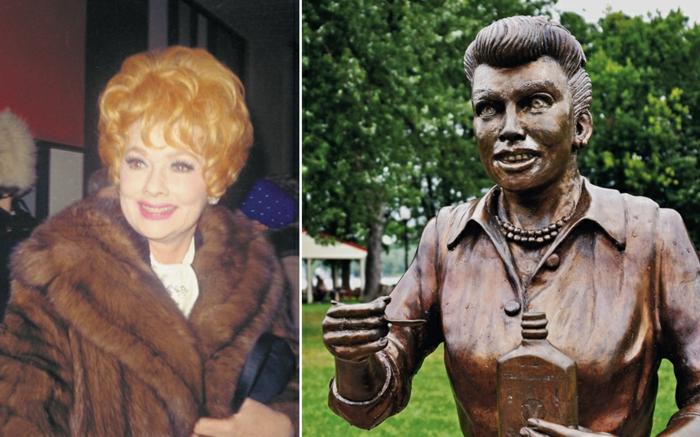 Lucille Ball statue und bild promi news