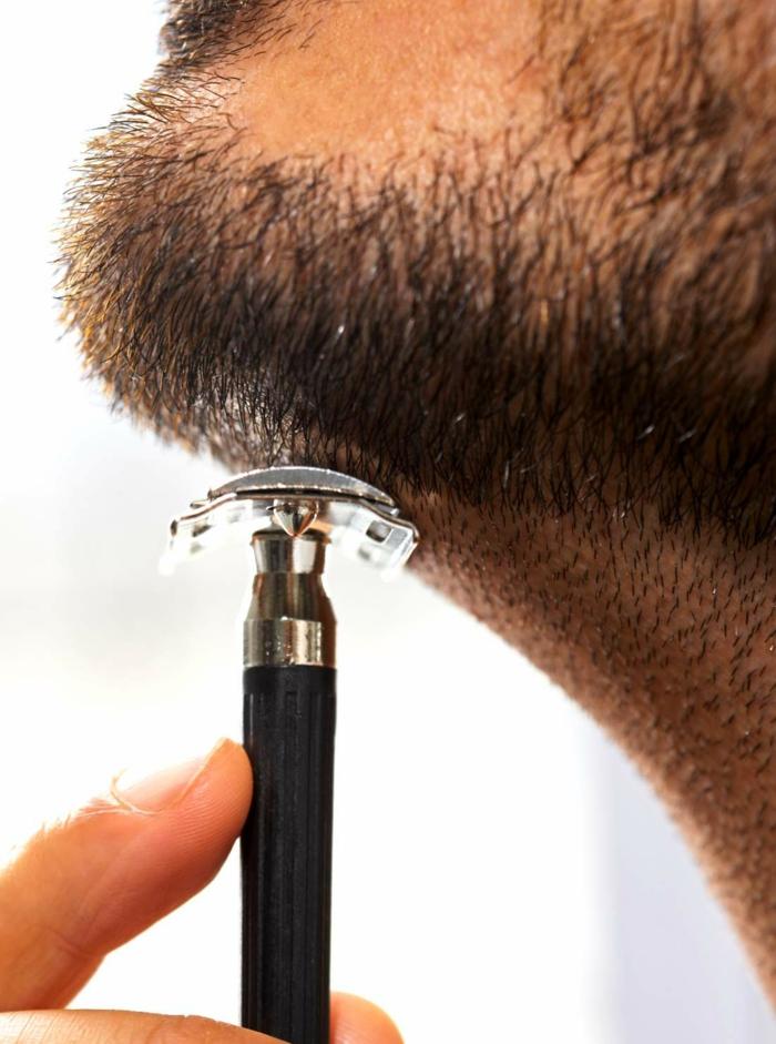 Männer mit Bart rasierer