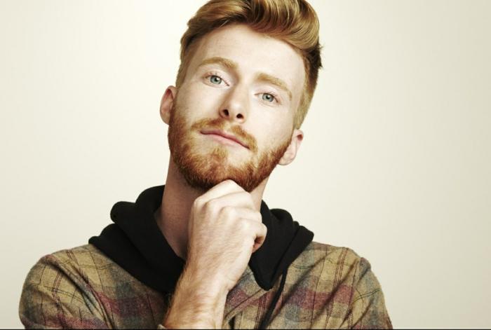 Männer mit Bart rothaarig