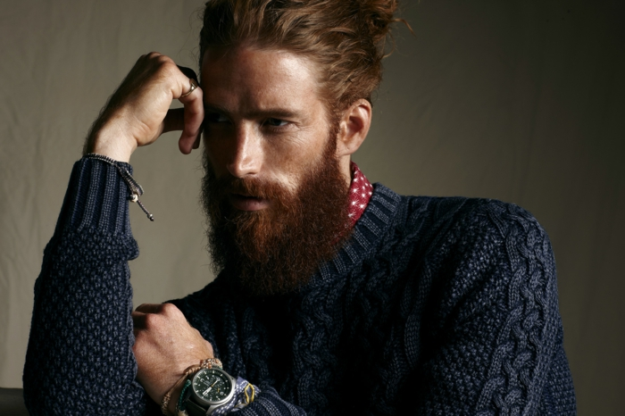 Männer mit Bart seemannstile
