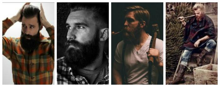 Männer mit Bart vierer