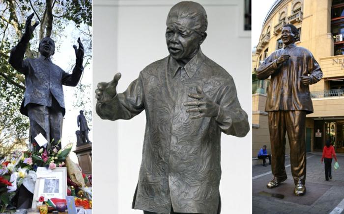 Nelson Mandela statuen weltweit prominews