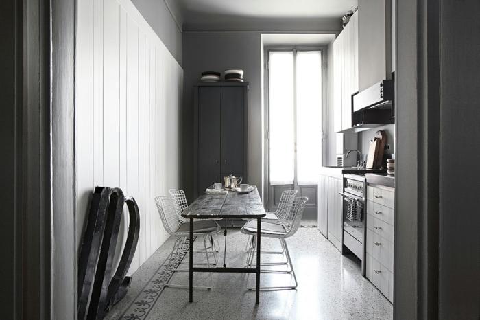 Palazzo Style Apartment mailand industrail möbel küche mit essbereich