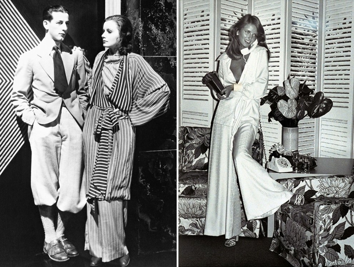 Schlafanzug paris trend 2015 vouge rot draussen Greta Garbot