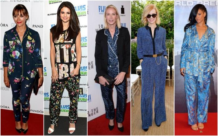 Schlafanzug paris trend 2015 vouge rot draussen prominente