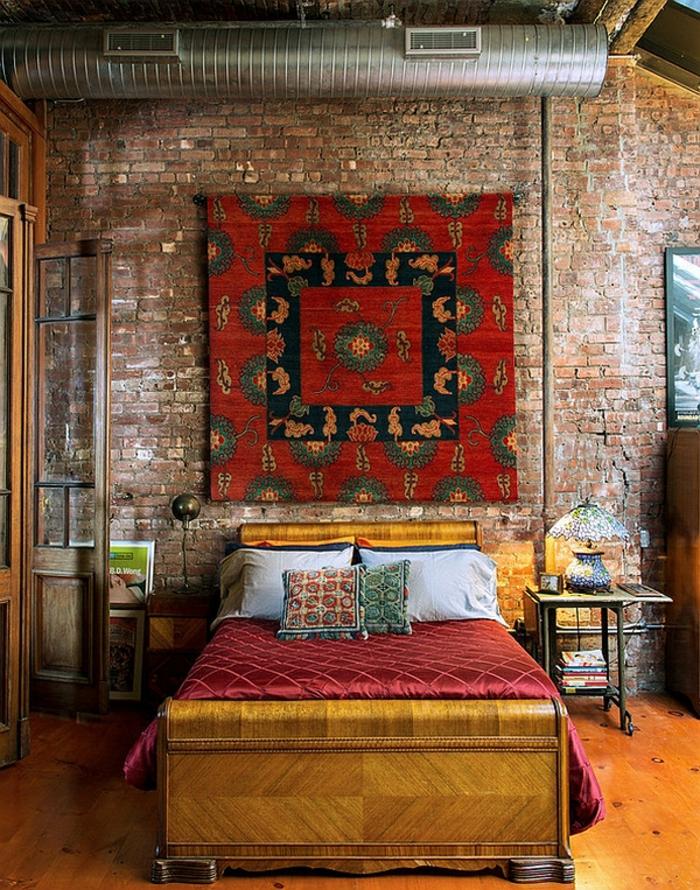 Schlafzimmer Gestalten Schlafzimmer Design Industrie Teppich Marokko