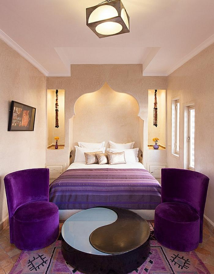 Schlafzimmer Gestalten Schlafzimmer Design Marokko Lila Licht