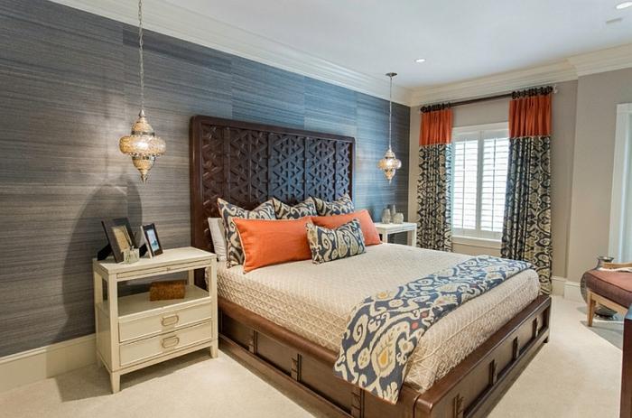 Schlafzimmer Design modern mix marokko