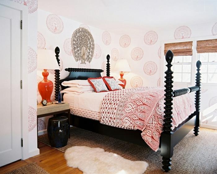 Schlafzimmer Design modern tapette decke