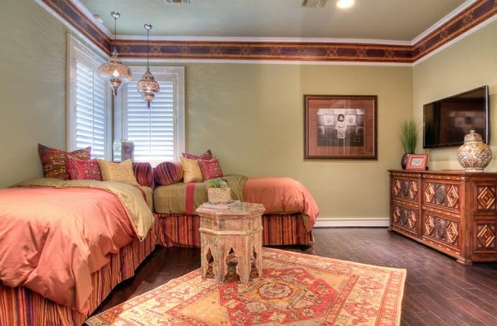 Schlafzimmer Design moderner pastelle lampen relief