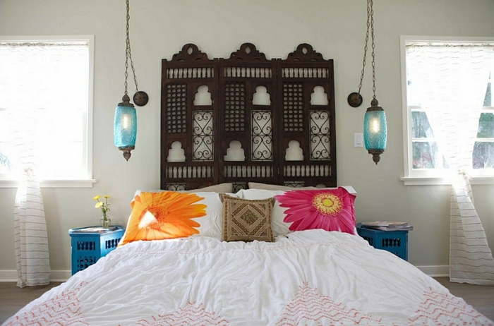 schlafzimmer gestalten 33 design inspirationen aus marokko. Black Bedroom Furniture Sets. Home Design Ideas