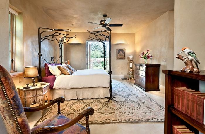 Schlafzimmer Design weiß cremig