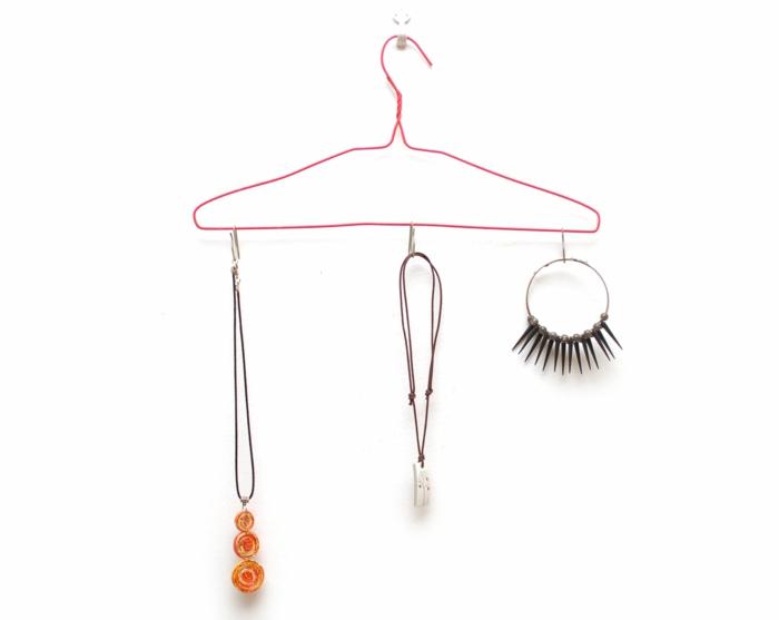 Schmuck Ständer selber machen kleiderbügel einfach