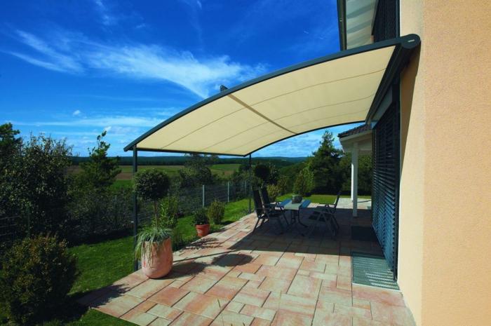 Sonnenschutz Terrasse Vordach Kunststoff