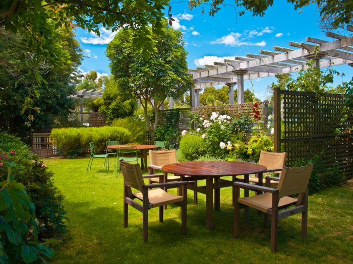 Sonnenschutz Terrasse Vordach Markise natürlicher schatten