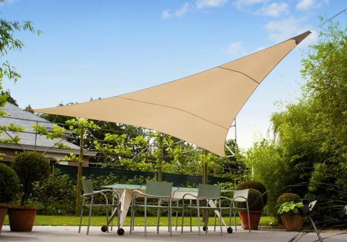 Sonnenschutz Terrasse sonnen segel dreieck