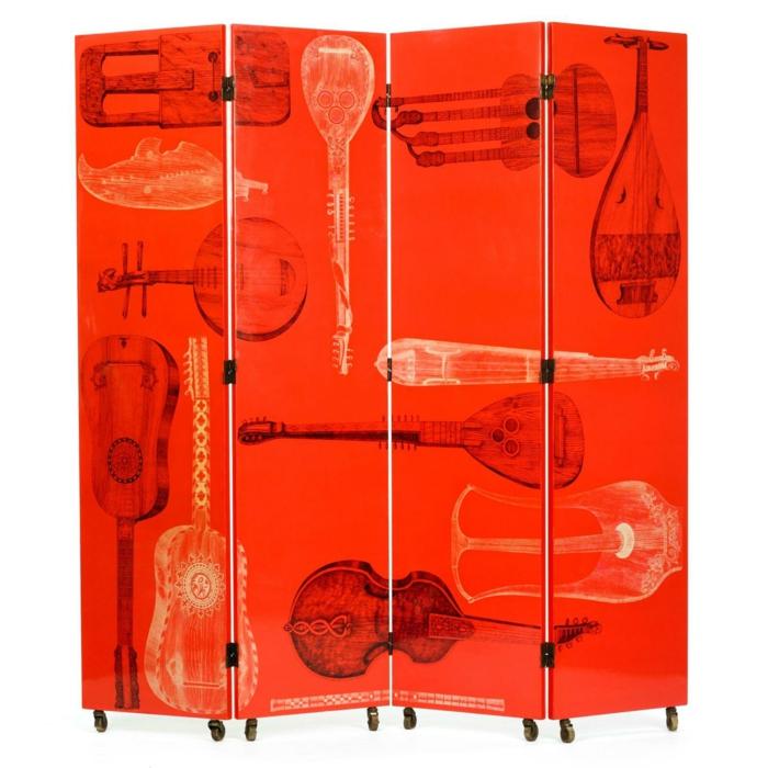 Spanische Wand transperent holz rot