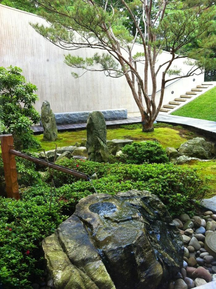 Steinfiguren für den Garten Moos Stein kunstmuseum