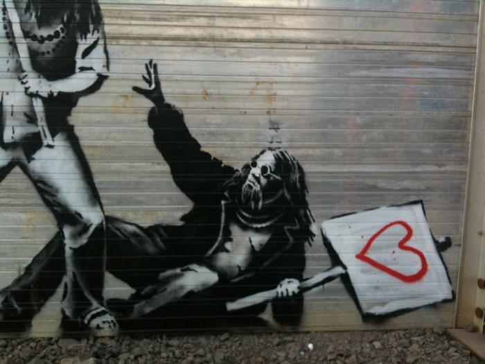 Streetart Künstler Banksy liebe