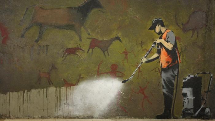 Streetart Künstler Banksy mensch