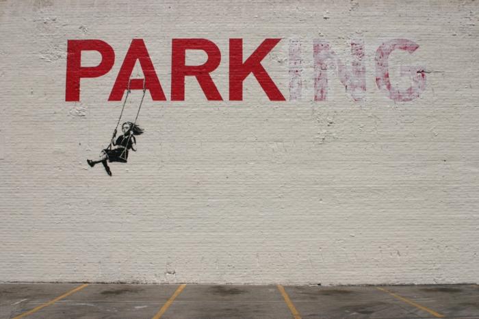 Streetart Künstler Banksy park