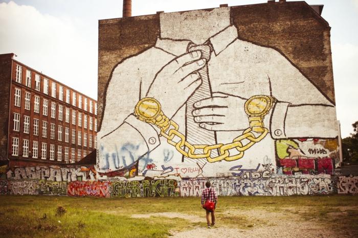 Street art Künstler Blu