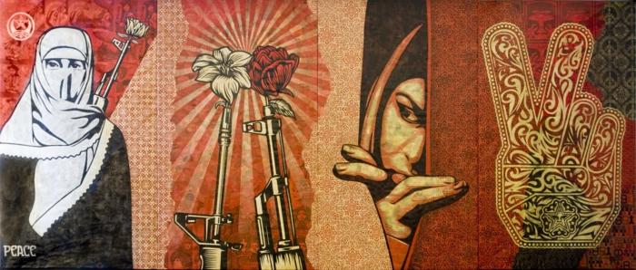 Streetart Künstler Obey Giant
