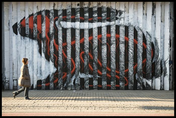 Street art Künstler Roa belgium london
