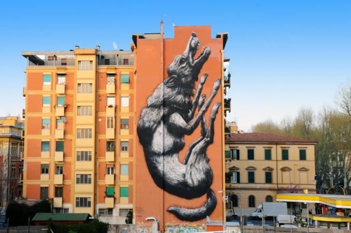 Street art Künstler roa rom