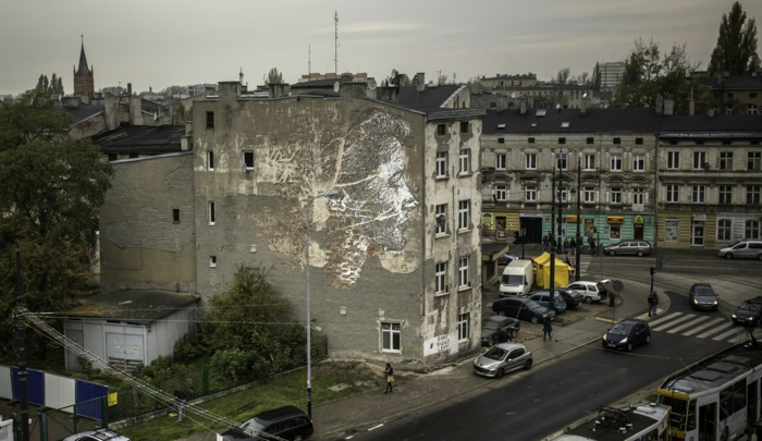 Streetart Künstler vhils poland