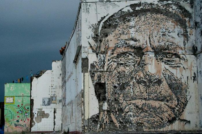 Streetart Künstler vhils portugal modern met