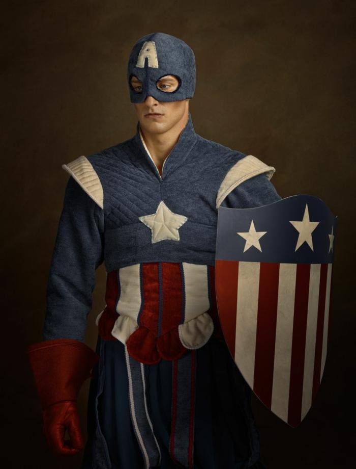 Superheld der unglaubliche capitan Amerika