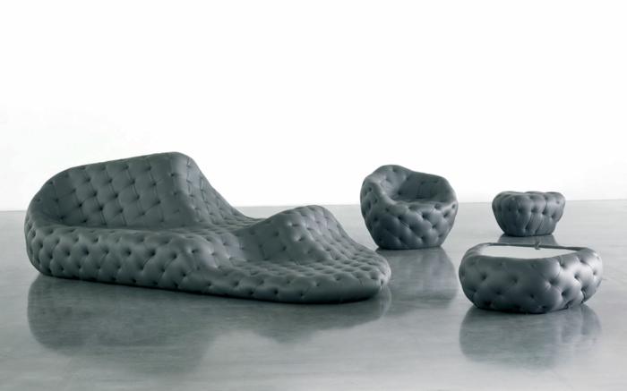 Tephra Formations designer wohnzimmermöbel ledersofa robert stadler