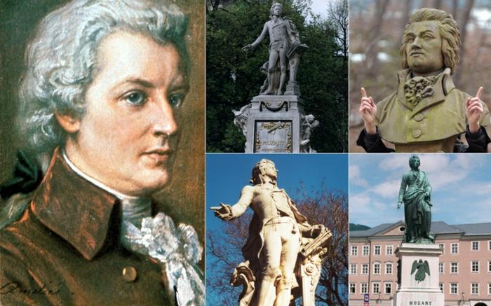 Wolfgang Amadeus Mozart statue promi news