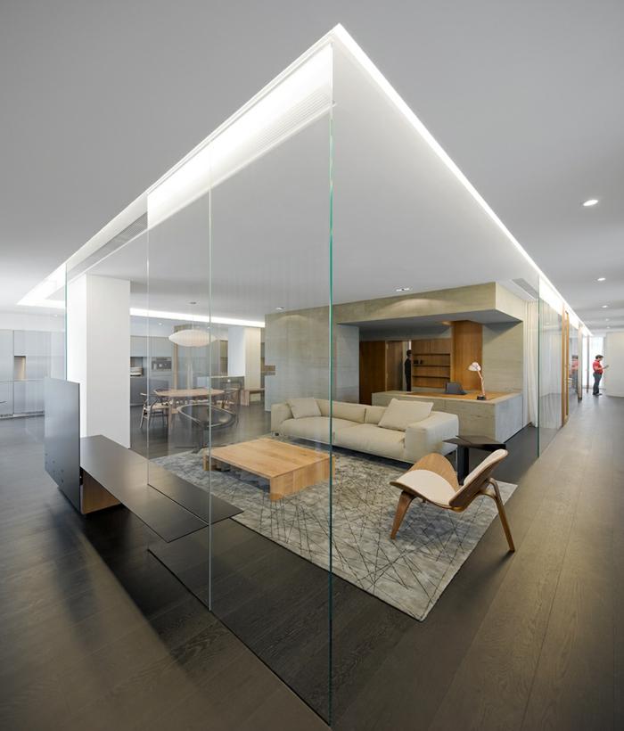 Wu Residence singapur loft wohnung industrial style möbel glaswände