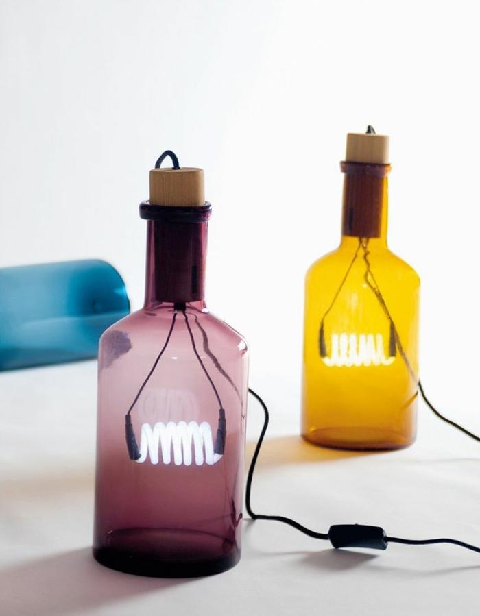Geometrische Tischlampen aus Holz vom Designer Alessandro Zambelli