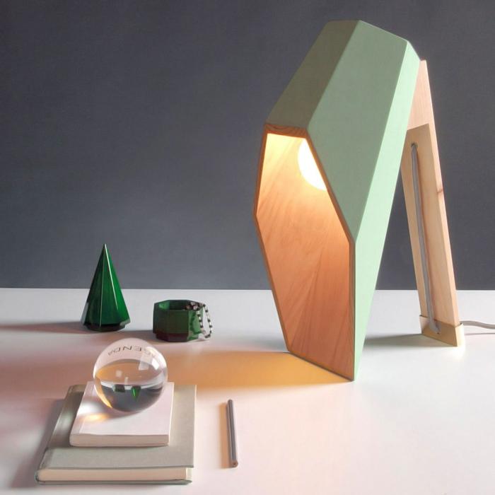 alessandro zambelli woodspot geometrische tischlampen