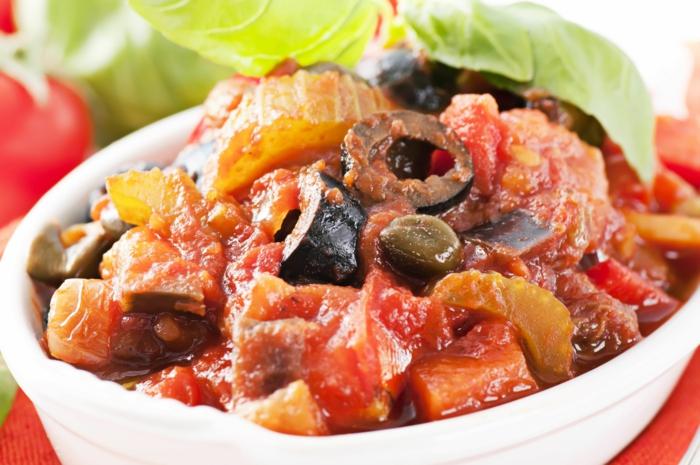 aubergine zubereiten leckere rezepte caponata